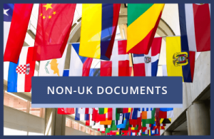 Legalisation of Non-UK Documents